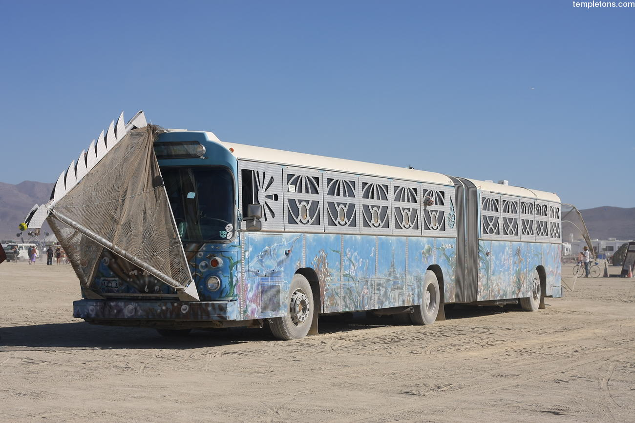 The Nautilus, an articulated bus. Several times, Nemo, the owner of ...