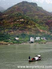 Terraced walls below the dam